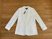 NWT J Crew Unstructured sz 8T White 1 button blazer jacket shawl collar