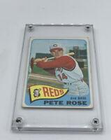 1965 Topps #207 Pete Rose HOF Cincinnati Reds 2nd Base 2nd Year Card