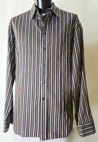Canali Shirt XL 17-36 Slim Fit Current Brown Label