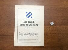 WWII 3rd Infantry Division The Third: Tops In Honors Booklet Congressional Medal