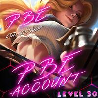 PBE League of Legends LOL Account unl. BE Unranked Smurf Level 30 PC