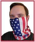 USA Flag Face Cover ShieldFace Mask Bandana Head Buff Gaiter