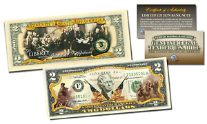 1776-2016 DECLARATION OF INDEPENDENCE * 240th ANNIV * Genuine US $2 Bill 2-SIDED