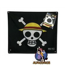 ONE PIECE Bandiera pirata LUFFY Rubber Rufy 50x60 cm 100% Original Abystyle flag