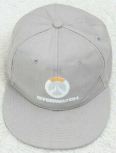 Overwatch Peace Gray Baseball Hat Cap Acrylic Adult One Size Fits All Snap Back