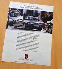 Reklame Nr.55) Werbung Rover 620 Si - Werbeanzeige - Print Ad 1995