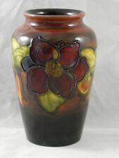 Fabulous Moorcroft Flambe Clematis Baluster Vase