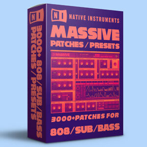 3000+ 808, SUB, BASS Patches / Presets for Native Instruments Massive