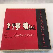 1962 LE FRANCAIS Ecouter Et Parlet CONVERSATIONAL FRENCH Records Vinyl 33 1/3