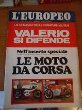 L'EUROPEO n.43-1971-8°inserto LA MOTO-VOLPE ROSSA-J.SEBERG-P.VILLAGGIO-S.BERGER