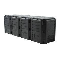 Compostiera da giardino Compostaggio Plastica Nero 1600L