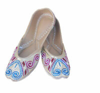 Women Shoes Indian Traditional Gold Mojari Ballet Flats UK 5.5 EU 38.5