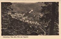 Schwarzburg / Thür. Wald , Blick vom Trippstein  ,Ansichtskarte, 1955 gel.