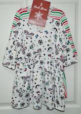 NWT EMMA & ELSA girl's Stripe Unicorn Holday 2-Pack DRESES* 4T  New