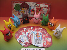 ANGRY BIRDS - JOY COMPLETE SET ALL PAPERS MAGIC KINDER SURPRISE