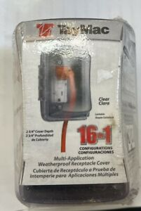Hubbell TayMac MM410C Weatherproof Single Outlet Cover Outdoor Plug Protector