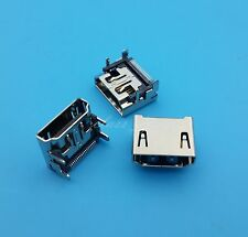 10Pcs HDMI Female Socket SMT No cover Type 19Pin PCB Solder Connector