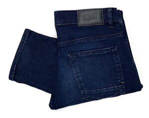 Hugo Boss Men's Delaware Slim Fit Jeans in Ink-Blue Dark Wash
