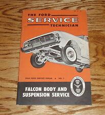 Original 1960 Ford Falcon Body & Suspension Shop Service Manual 60