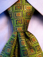 Kolte Couture Green Silk Tie Made in Italy A4879