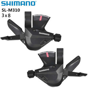 Shimano Altus SL-M310 3/8 3X8 Speed Trigger Shifter Dual Lever Shifters Set