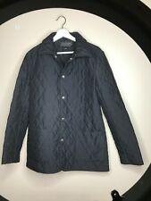 Womens Ralph Lauren Collection Classic Black Equestrian Quilted Coat Jacket SZ 8