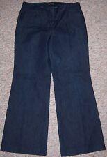 EXPRESS Blue Dark Rinse Denim Low Waist Wide Leg Trouser Jeans Size 6 Short EUC
