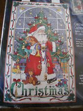 Bucilla Counted Cross Stitch CHRISTMAS ADVENT CALENDAR Kit,Santa,Charms,#83698
