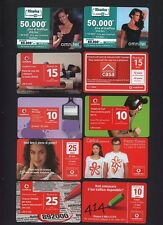 LOTTO 10 RICARICHE VODAFONE OMNITEL DIFFERENTI COME DA FOTO COD.009