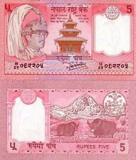 NEPAL - 5 rupees 1987 FDS - UNC