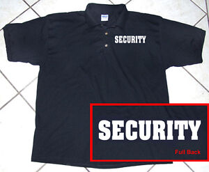 Black Polo Shirt, Staff, Police, Business, Security, 100% Cotton, S - 2XL