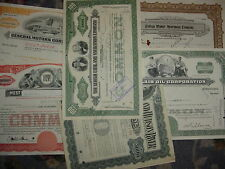Lot of 10 Different Stock Certificates