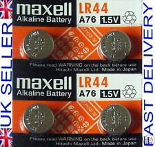 4 Maxell LR44 A76 AG13 1.5V Alkaline Cell Batteries Long Expiry Date Coin/Button