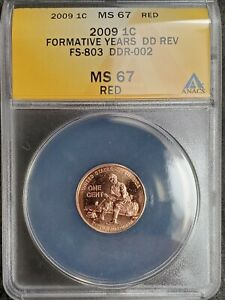2009 Lincoln Cent - Doubled Die Reverse - ANACS Certified MS67RD - FS-803