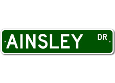 AINSLEY Street Sign - Personalized Last Name Signs