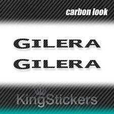 2 ADESIVI GILERA STICKERS DECAL moto CARBON LOOK carbonio