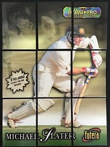 MICHAEL SLATER 1996 Futera Puzzle 9 Card Set Cricket Trading Cards /50