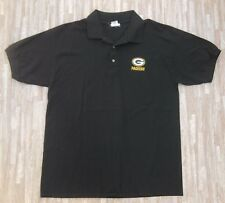 Green Bay Packers NFL Football Polo Shirt ~ Men's Large L ~ Green Cotton Golf