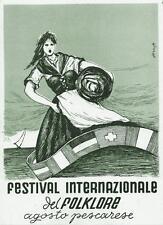 9727) PESCARA FESTIVAL INTERNAZIONALE DEL FOLKORE PESARESE VG 1953.