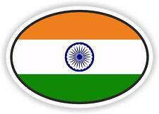 India Flag oval STICKER bumper decal car helmet laptop