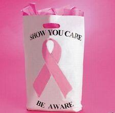 pink ribbon 100 PLASTIC BAGS breast cancer awareness