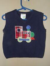 NWT Nursery Rhyme 18M Train Sweater Vest Navy Blue Choo Choo Christmas Boutique