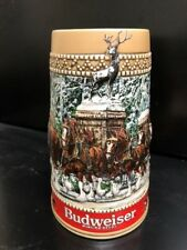 Budweiser Clydesdale Collector C Series Holiday Stein Beer Ceramic Mug '87 NEW