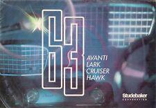 Studebaker 1963 USA Market Foldout Sales Brochure Lark Hawk Cruiser Avanti