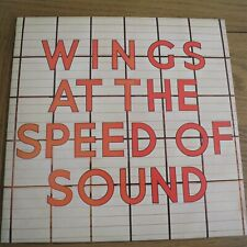 WINGS AT THE SPEED OF SOUND 1976 UK 1ST PRESS EMI MPL  PAS 10010  EX/EX
