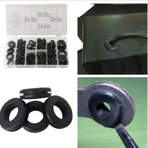 180pcs 8Sizes Rubber Grommets Firewall Hole Plug Set Electrical Wire Gaskets Kit