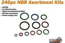 JG1956 240pc High Press Hydraulic Rubber Oil Pipe Seal Gasket Kit