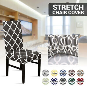 1/2/4x Spandex Stretch Chair Seat Cover Dining Room Wedding Banquet Party Decor