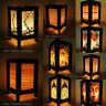 Asiático Oriental Bambú Arte Lámpara de Cabecera de Mesa de Madera Luz de noche