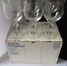 VINTAGE SCHOTT ZWIESEL CASTILLA GLASS WATER GOBLETS GERMANY SET OF 6 - RARE - MI